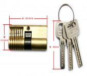 全铜双头单排弹子月牙练功锁