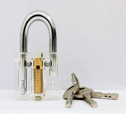 透明叶片挂锁练功锁