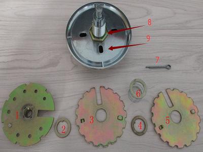 机械保险柜密码盘构造图解