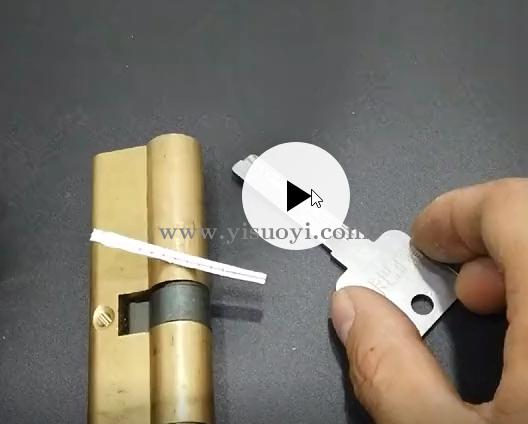 最新单排正槽无导针锡纸快开工具演示视频