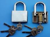 无簧叶片挂锁最快开启方法 无簧叶片挂锁内部图解
