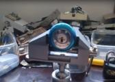 三面弹珠锁(电脑打孔)开启视频演示