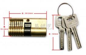 全铜双头单排弹子月牙练功锁图片