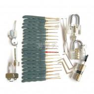 透明锁五件套+镀钛工具包套餐组合图片