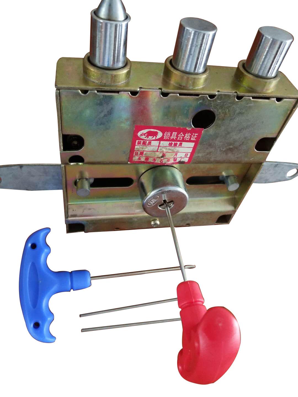 十字锁自动锁打孔快开工具